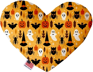 Happy Halloween 6 inch Stuffing Free Heart Dog Toy